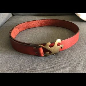 1970 brass hippie Laurie belt size 42
